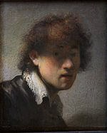 tablou rembrandt - autoportret (1629)