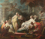 tablou jean honorc fragonard - psyche showing her sisters her gifts from cupid