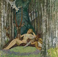 tablou fernand hertenberger - diana (nud)