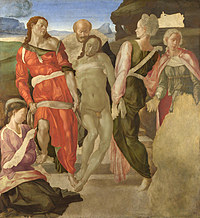 tablou michelangelo - the entombment