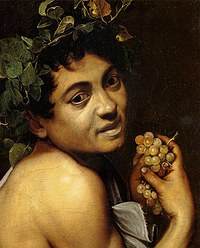 Tablou canvas caravaggio - sick bacchus (detail)