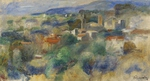 Tablou canvas renoir - view on cannet, 1901