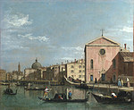 Tablou (f) canaletto - venice - the grand canal facing santa croce