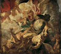 tablou rubens - saint michel terrassant les anges rebelles
