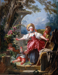 tablou jean honore fragonard - blind man s buff
