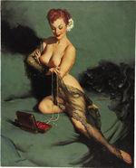 Tablou canvas nud illustration 14