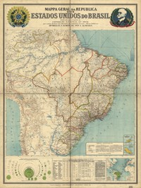 tablou map of brasil, 1850