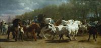 tablou rosa bonheur - horse fair, 1835