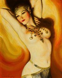 Tablou canvas nud, ilustratie (295)