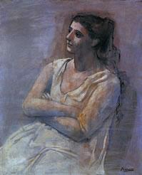 tablou Picasso - Femme assise les bras croiss (Sarah Murphy), 1923