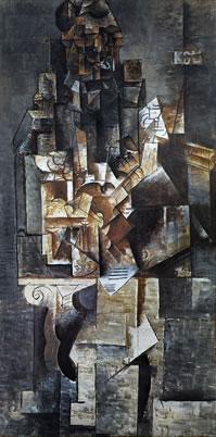 tablou Picasso - Homme Е la guitare, 1912