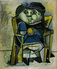 tablou Picasso - Paloma Е l'orange