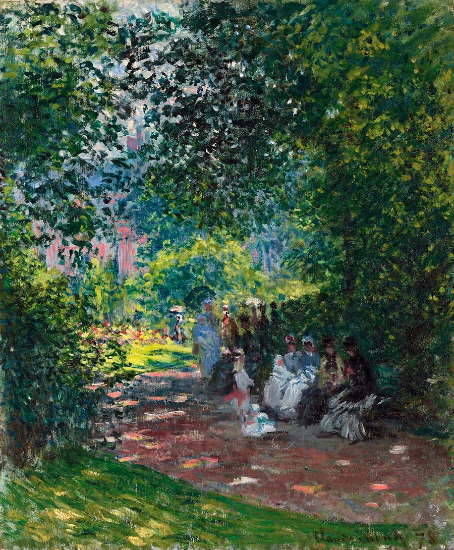 Tablou canvas claude monet - parc monceau 03, 1878 | Tablouri celebre |  tablouri canvas online
