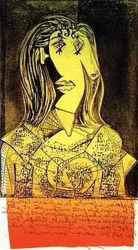 Tablou canvas picasso - buste de femme, 1938