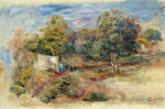 Tablou canvas renoir - landscape with house (etude), 1913