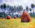 tablou claude monet   haystacks at giverny, 1884