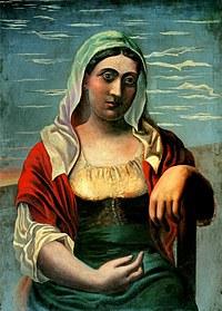 tablou picasso - l'italienne, 1919