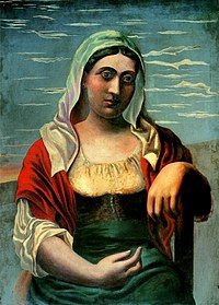 Tablou canvas picasso - l'italienne, 1919