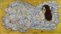 tablou egon schiele - resting nude