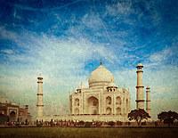 tablou taj mahal, india (4), vintage