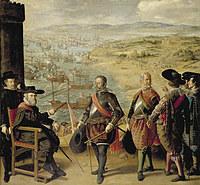 tablou francisco de zurbaran - defence of cadiz against the english (1634)