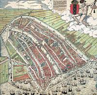 Tablou canvas harta antica amsterdam, 1544