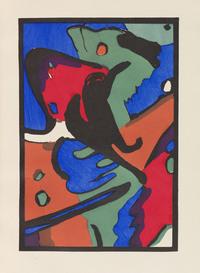 tablou wassily kandinsky - der blaue reiter. ea 1912