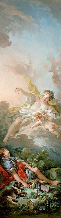 tablou francois boucher - avrora and cephalus (1769)