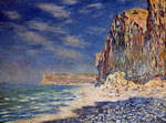 Tablou canvas claude monet   cliff near fecamp, 1881