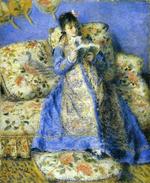 tablou Renoir - camille monet reading, 1872