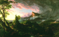 Tablou canvas Thomas Cole - The Course of Empire, The Savage State, 1836