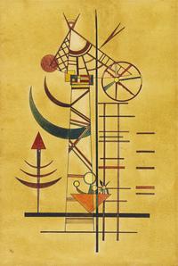 tablou wassily kandinsky - gebogene spitzen, 1927
