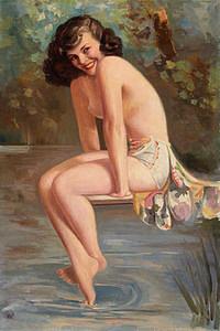 tablou nud, ilustratie (294)