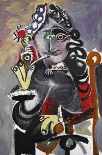 tablou pablo picasso   musketeer with pipe, 1968