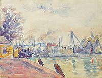 tablou paul signac - the port of flessingue, 1896