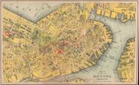 tablou map or plan of boston, massachusetts, 1894