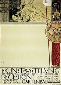 tablou Gustav Klimt - poster for the first exhibition of secession (1897)