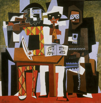 tablou picasso - three musicians