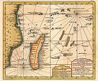 tablou harta antica Madagascar