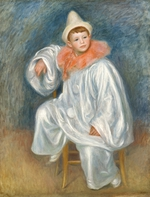 tablou renoir - the white pierrot (jean renoir), 1901