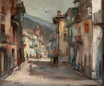 tablou italian city