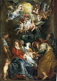 tablou rubens- circumcision (1605)