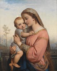tablou franz russ - madonna