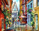 tablou leonid afremov morning amsterdam