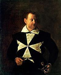 tablou caravaggio - portrait of fra antonio martelli, (1610)