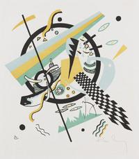 tablou wassily kandinsky - small worlds iv, 1922