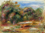 Tablou canvas renoir - in the garden at collettes in cagnes