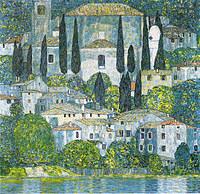 tablou Gustav Klimt - church in cassone (1913)