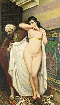 tablou fabio fabbi - slave market, 1931