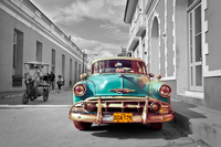 tablou retro car, cuba, bicolor (4)